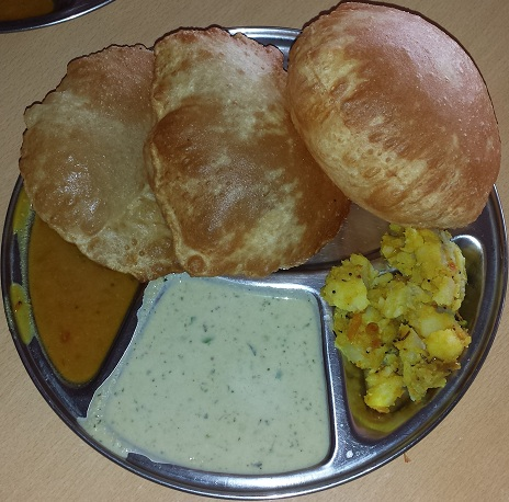 Puri for Breakfast at work