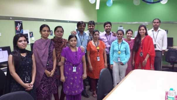 Some of the trainees in our course in Bangalore